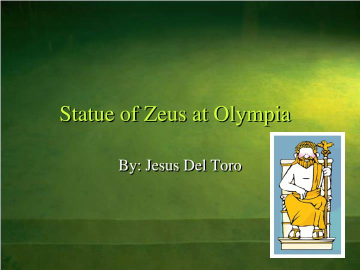 statue of zeus at olympia n.
