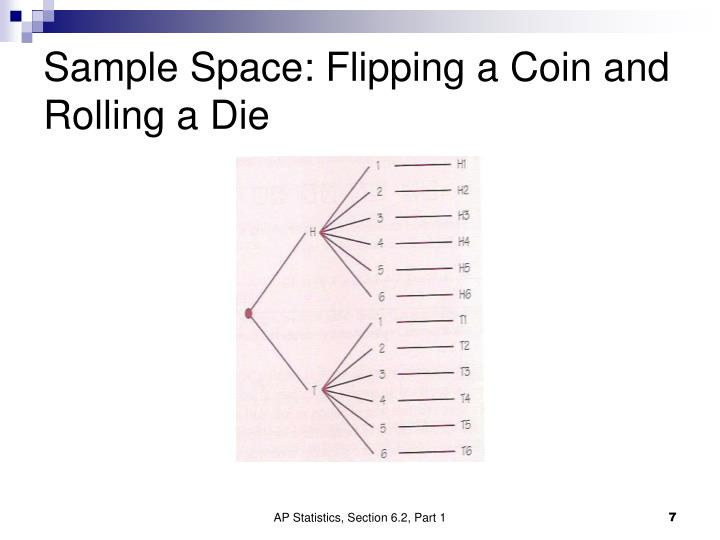 Sample Space: Flipping a Coin and Rolling a Die