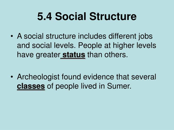 different structures of society Expansive aspects of social structure it refers to a society's framework hall studied how human groups have different perceptions of personal space and how much.
