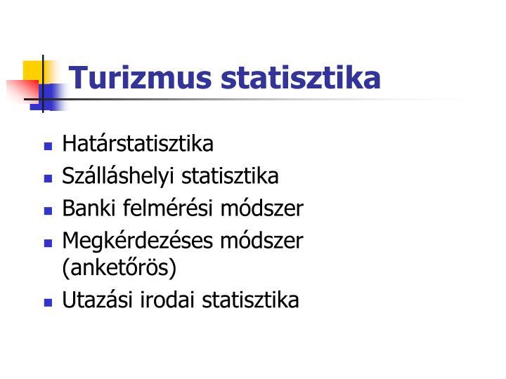 Turizmus statisztika