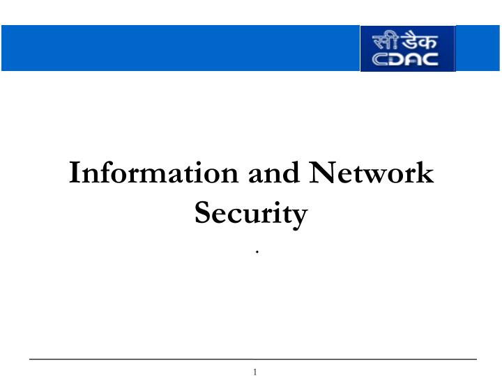 information and network security n.