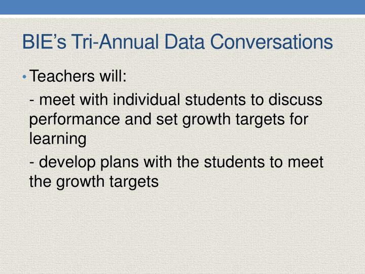 BIE's Tri-Annual Data Conversations