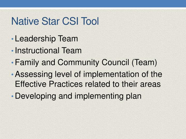 Native Star CSI Tool