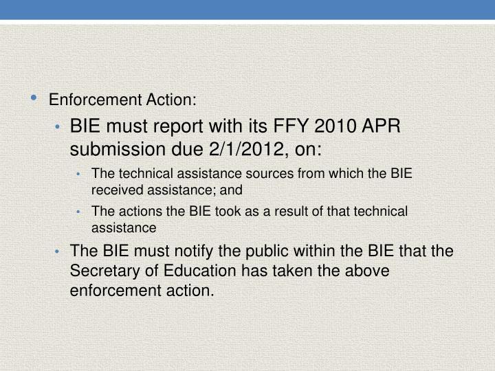 Enforcement Action: