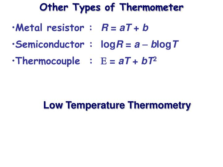 Other Types of Thermometer