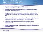 common activities for large res penetration in se europe