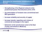motivation for transmission investments in cse europe