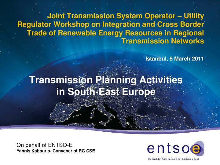 transmission planning activities in south east europe