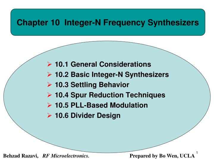 chapter 10 integer n frequency synthesizers n.