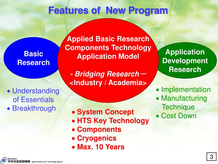 Features of  New Program