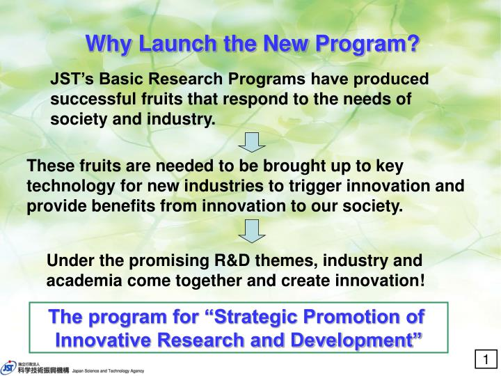 Why launch the new program