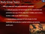 study group topics