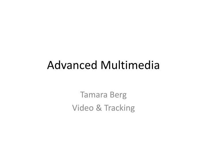 advanced multimedia n.