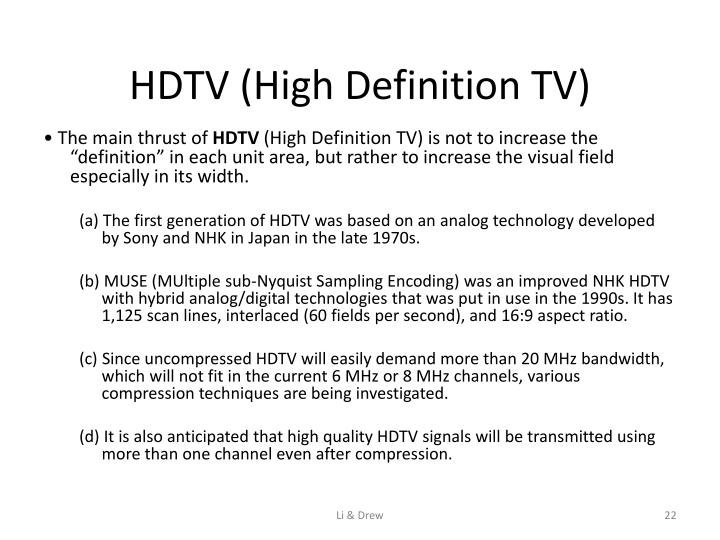HDTV (High Definition TV)