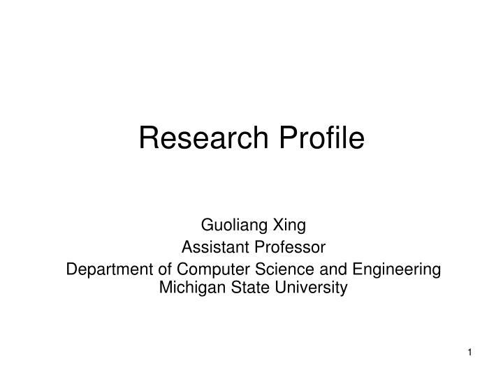 research profile n.