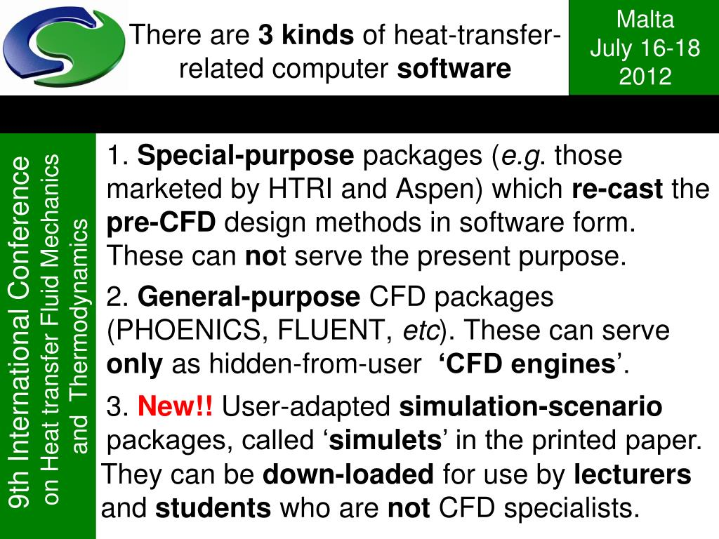 PPT - Teaching Heat Transfer and Fluid Mechanics by means of