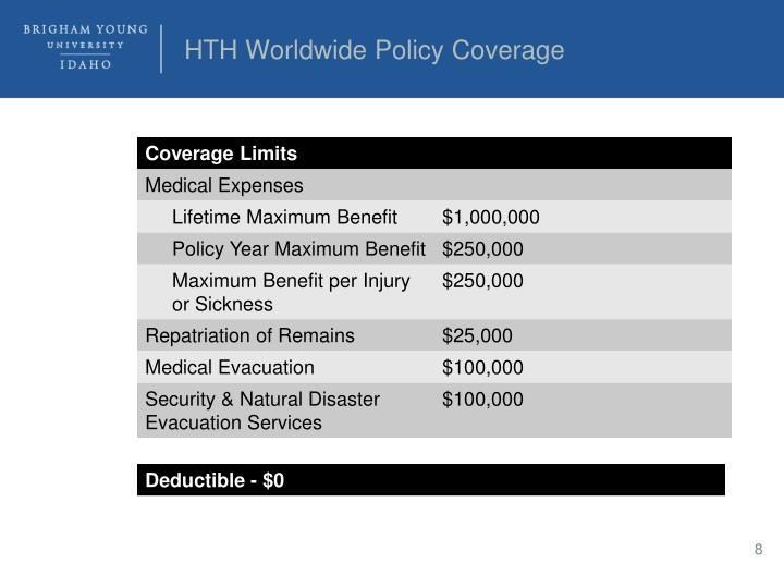 HTH Worldwide Policy Coverage