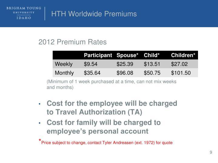 HTH Worldwide Premiums