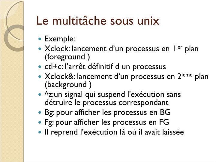 Le multitâche sous unix