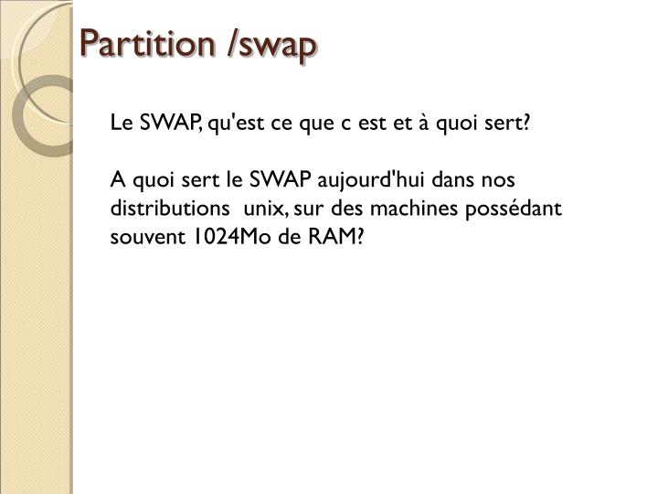 Partition /swap