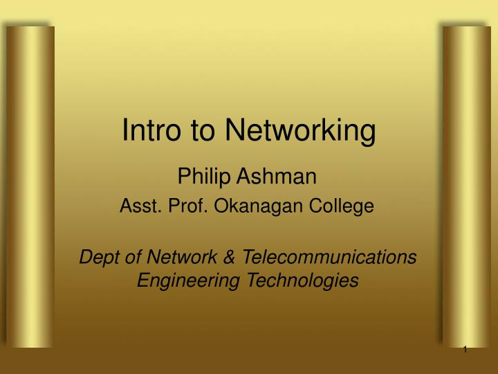 intro to networking n.