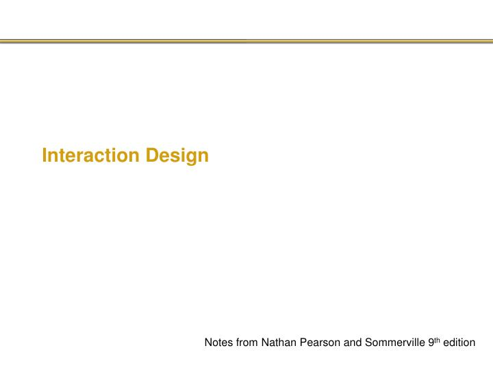 interaction design n.