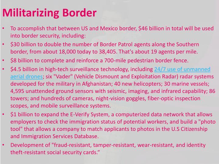 Militarizing Border