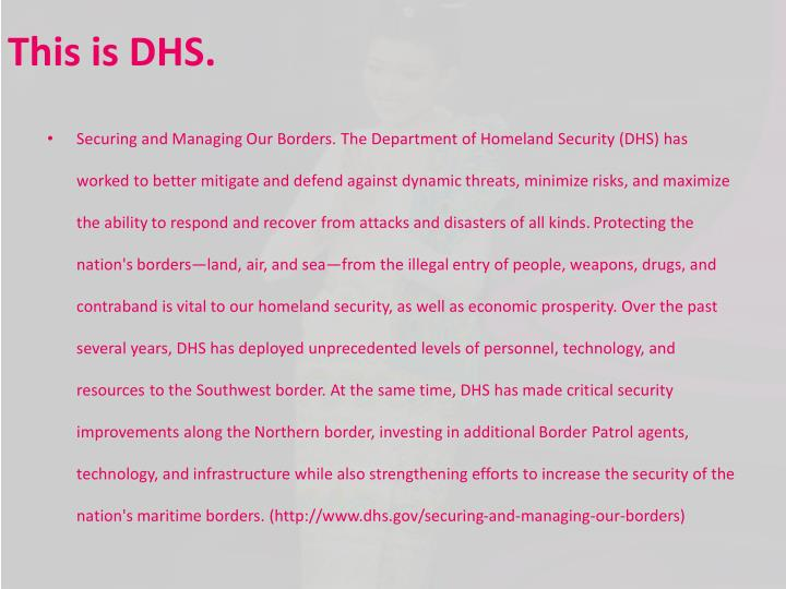This is DHS.