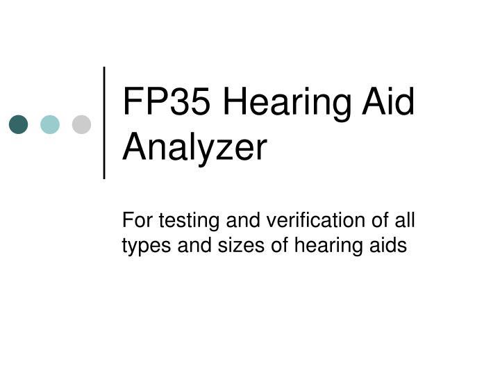 fp35 hearing aid analyzer n.