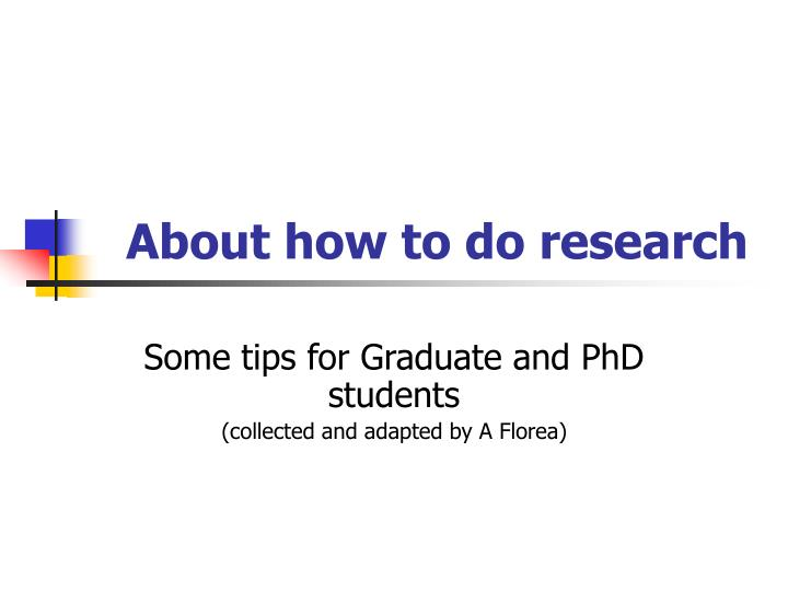 about how to do research n.