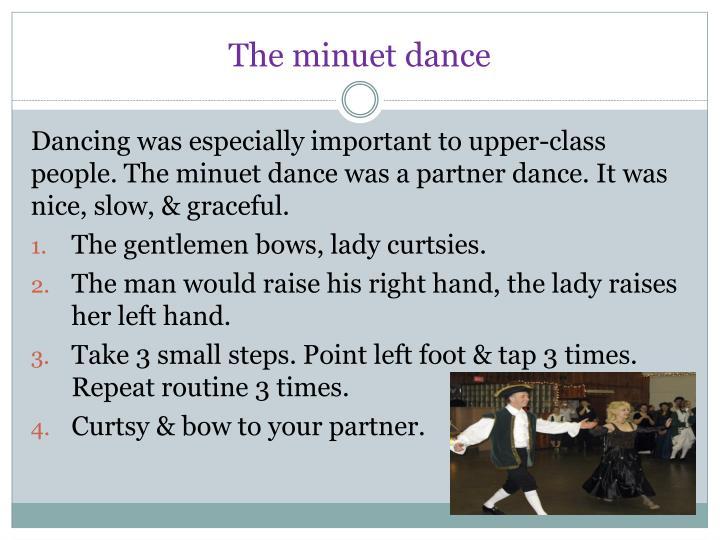 The minuet dance