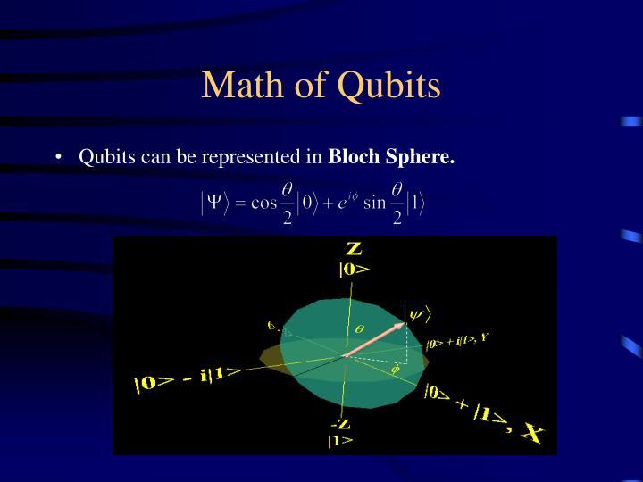 Math of Qubits