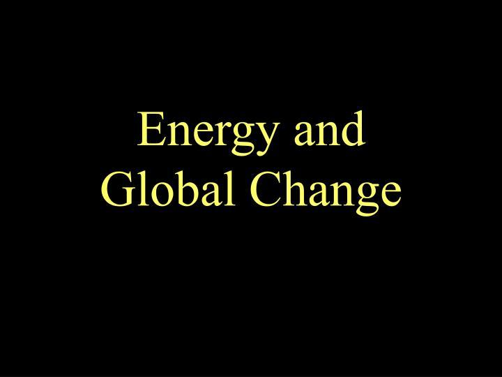 energy and global change n.