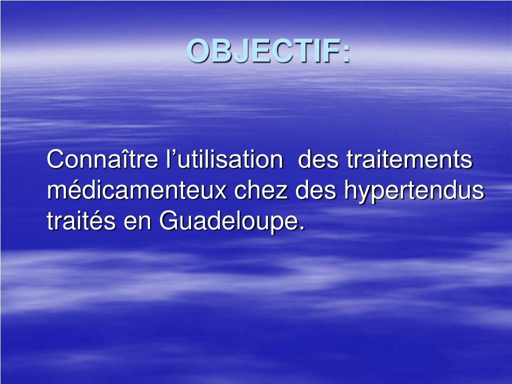 PPT - TRAITEMENT PHARMACOLOGIQUE DE L'HYPERTENSION..