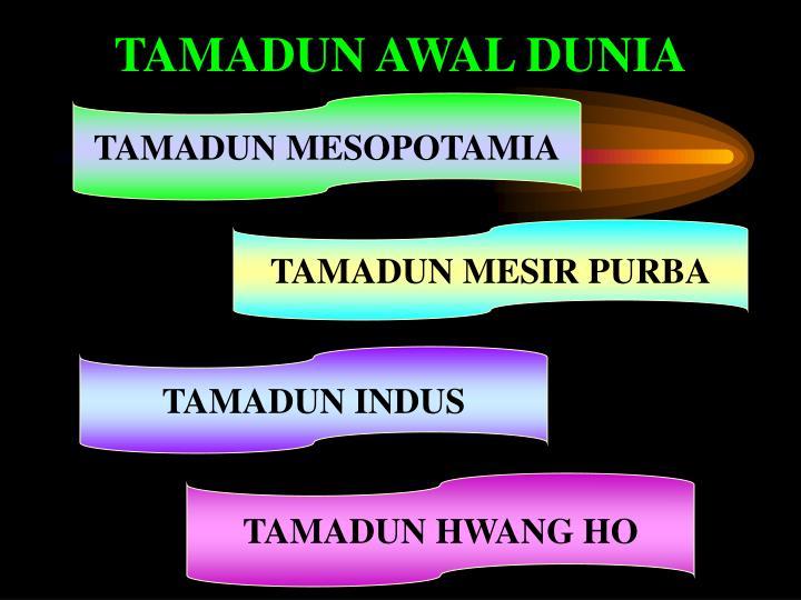 TAMADUN AWAL DUNIA