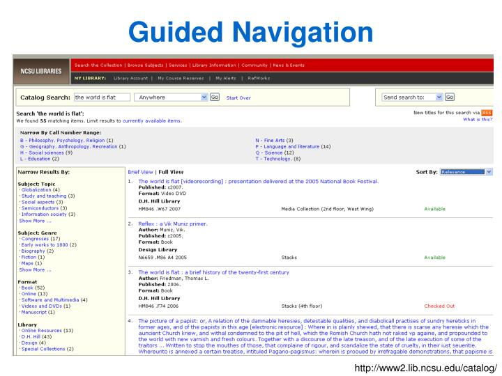 Guided Navigation