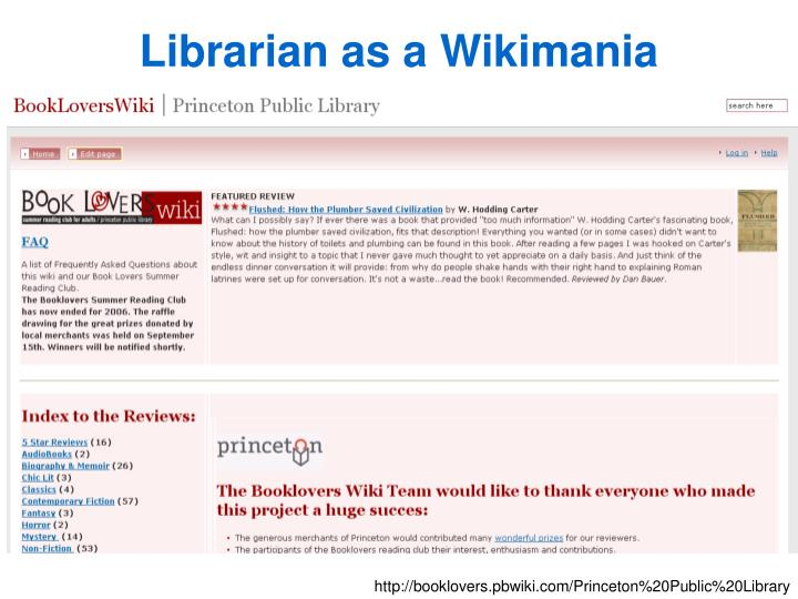 Librarian as a Wikimania