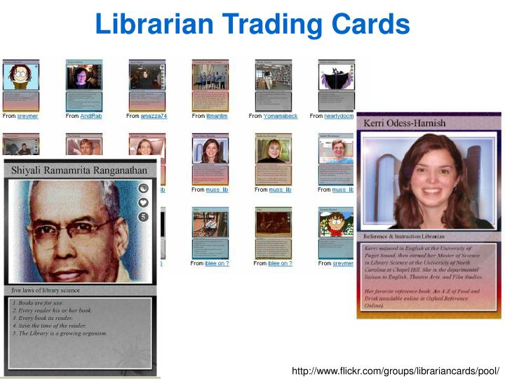 Librarian Trading Cards