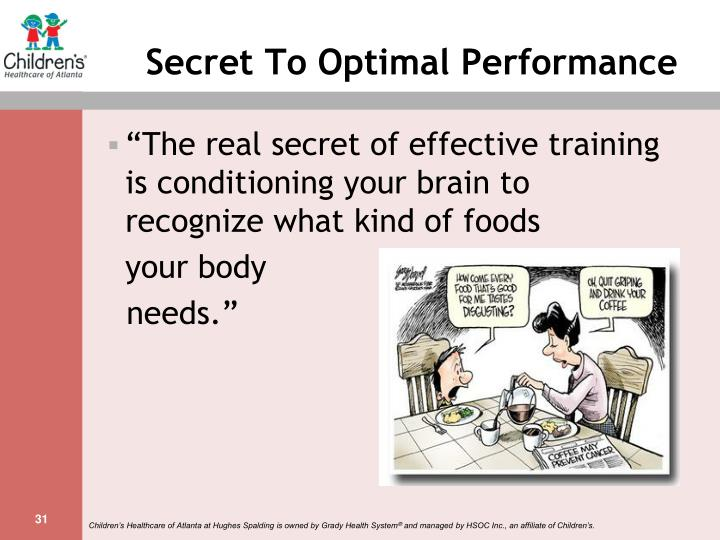 Secret To Optimal Performance