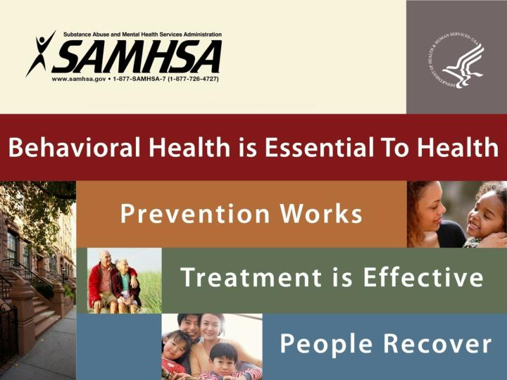 behavioral health is essential to health prevention works treatment is effective people recover n.