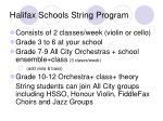 halifax schools string program