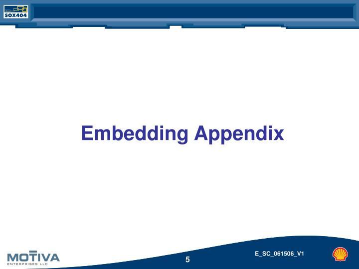 Embedding Appendix