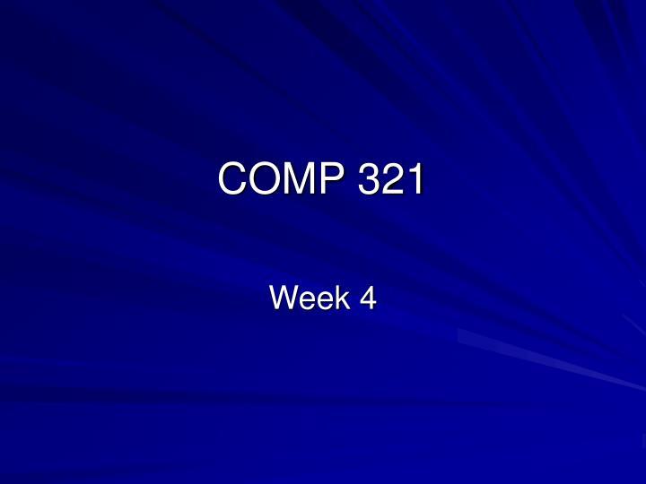 comp 321 n.