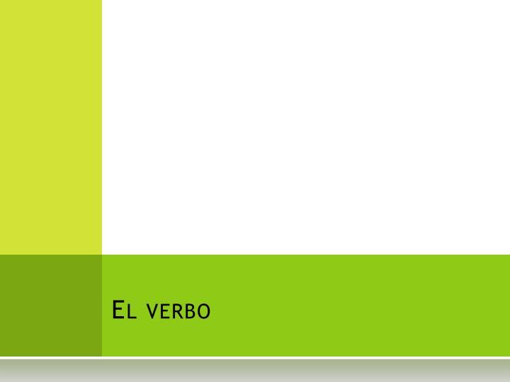 el verbo n.