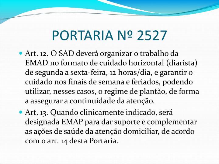 PORTARIA Nº 2527