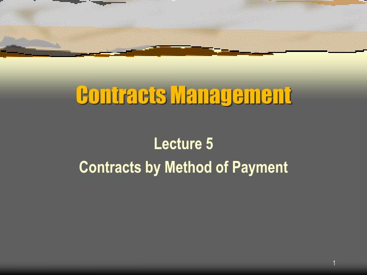 contracts management