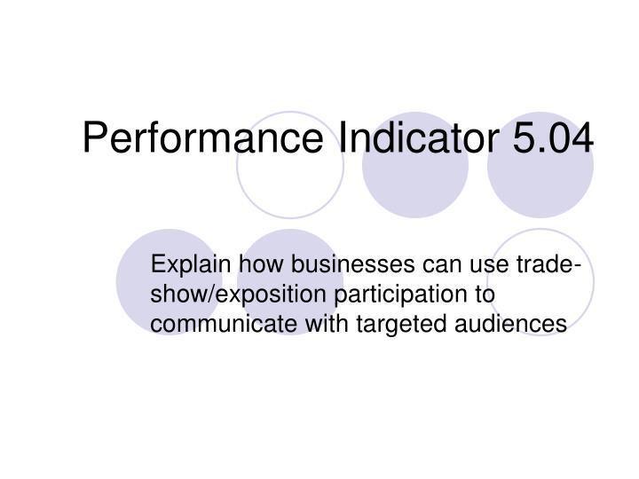 performance indicator 5 04 n.