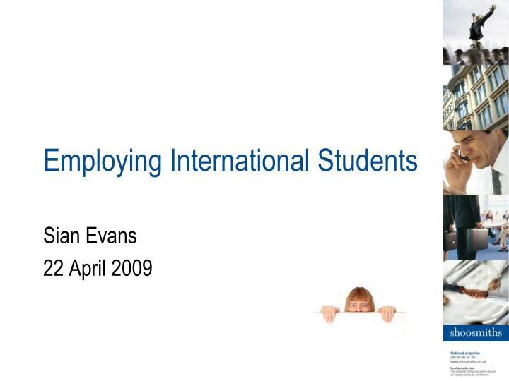 employing international students n.