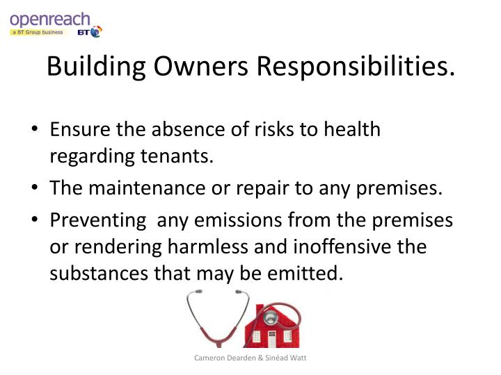 Building Owners Responsibilities.