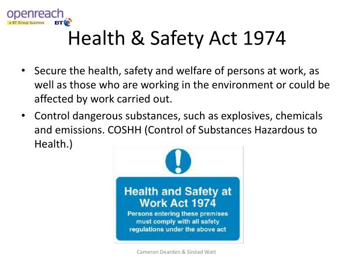 Health safety act 1974